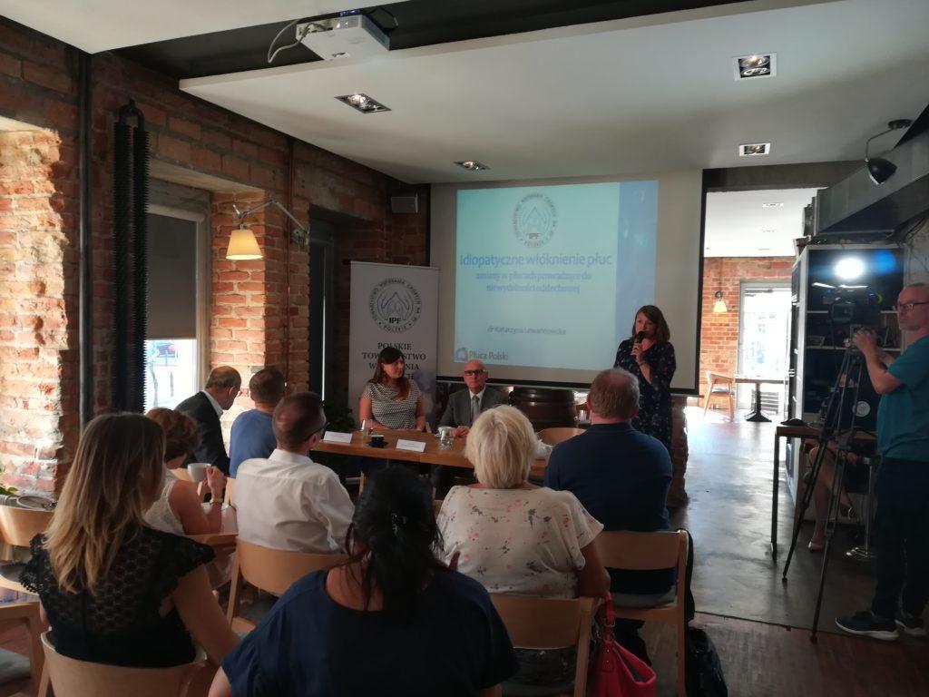 dr hab. n. med. Katarzyna Lewandowska z Polskiego Towarzystwa Wspierania Chorych na IPF