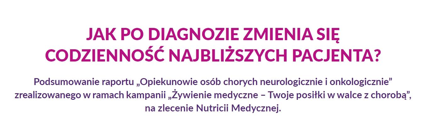 """Wyniki ogólnopolskiego badania """"Opiekunowie osób chorych onkologicznie i neurologicznie"""""""
